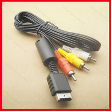 1pcs/lot AV cable Video cable For PS2 PS3 PSone TV connection cable(China)