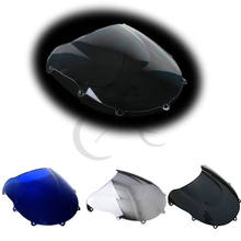 Motorcycle Dual Bubble Windshield Windscreen For SUZUKI GSXR600 GSXR 750 1996-1999 97 98(China)