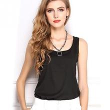 Summer Slim Render Short Top Women Sleeveless U Tank Tops Girl Solid Black Crop Tops Vest Tube Top 8 Color