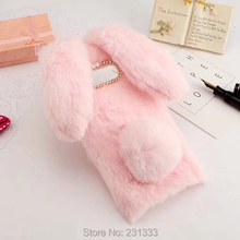 Buy 3D Rabbit Ear Hair Diamond Bling Fur Soft TPU Case Iphone 8 8G I8 8TH Iphone8 Warm Bowknot Cell Phone Skin Cover Luxury 1pcs for $7.91 in AliExpress store