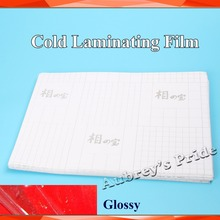 50Sheets A4( 210*297MM) Glossy Clear UV Luster PVC Cold Laminating Film Protect Photo For Cold Laminator