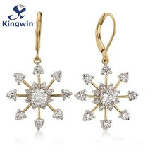 Sterling silver hoop snowflake earrings christmas design rhodium plating wholesale jewelry factory discount items hot sale(China)