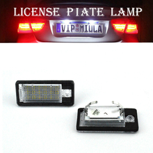 2PCS 18SMD Error Free LED Number License Plate Light Lamp for AUDI A3/A4/A6/A8/Q7/RS4/RS6(6.5)(China)