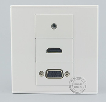 Wall Socket Plate 3 PortS One HDMI & One VGA & One 3.5mm Audio jack Panel Faceplate Outlet Wholesale Lots