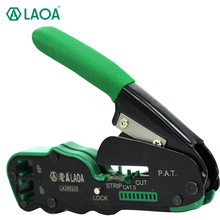 LAOA 6 P / 8 P Portable Multifunctional Terminal Crimping Network Tools Cable Wire Stripper with gift box(China)
