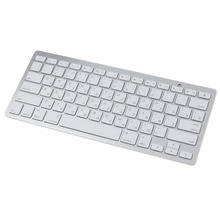 Russian Version Slim Mini Bluetooth Wireless Keyboard Battery For Win8 XP IOS Android for iphone for ipad(China)