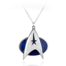 New Design Star Trek Logo Necklaces Marvel Comic Series Hot Movie Cosplay Metal Pendant Fashion Jewelry For Women and Men fans