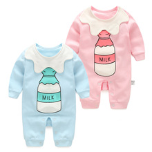 fashion newborn baby girl clothes summer cotton Infant boy rompers children clothing boutique outfit 3M To 24M Vintage Jumpsuit(China)