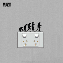 Cross Country Skiing Evolution Fashion Light Switch Sticker Home Room Wall Decal Black 7SS0427(China)