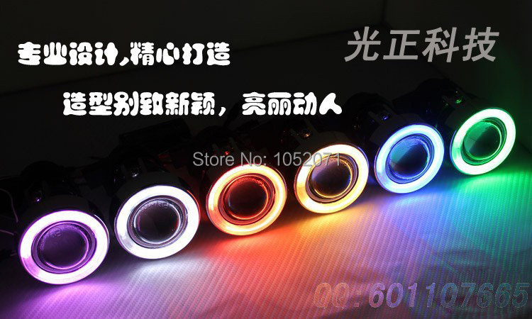 Free Shipping Fog Lamp Projector Lens Kit 2 Ballasts and 2 H3 HID Xenon Bulbs 35W Ready Universal Fit with Halo CCFL Angel Eyes<br><br>Aliexpress