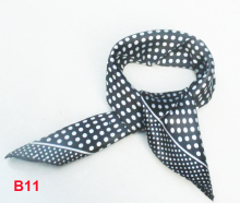 Fashion Brand Female 50cm black dots scarf bandanas handkerchief neckerchief  Polyester Square Scarf/Shawl For Ladies b011