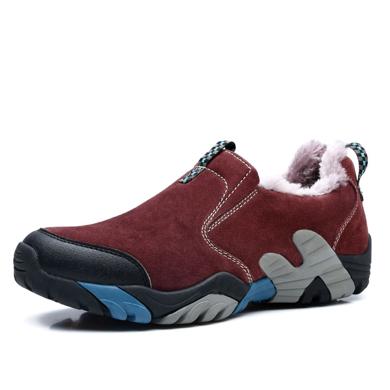 New arrival winter hiking shoes authentic warm plush men&amp;women shoes quality antiskid outdoor trekking shoes<br><br>Aliexpress