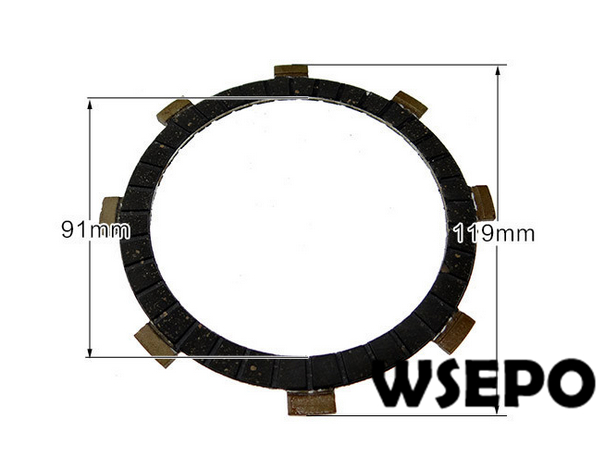 105,135 clutch friction plate