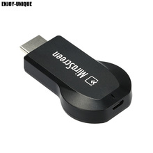ENJOY-UNIQUE Mirascreen DLNA Airplay WiFi Display Miracast Smart TV Dongle HDMI Receiver Mini Android TV Stick 1080 Full HD(China)