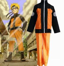 adult Halloween costumes Uzumaki Naruto cosplay costume for men anime clothes jacket Sports suits(China)