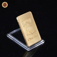 WR 1 Troy Ounce Gold Bar Bullion Liberty Coin Eagle Ingot Gold Plated Bullion Bar with Different Series As Birthday Gift