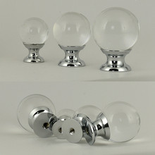 20mm 25mm 30mm 40mm glass ball drawer bookcase knobs pulls silver glass crystal kitchen cabinet cupboard door handles knobs