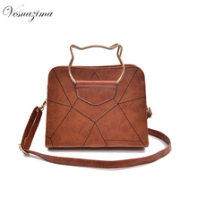 VZ pu leather black ladie's handbags top-handle for girl cute brown crossbody bags gray messenger bags for women VZ244ZN mujer