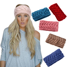 Winter Warm Knitted Fabric Turban Headband Female Soft Wool Hair Accessories for Women Crochet Head Wrap Girls Stretch Headwear
