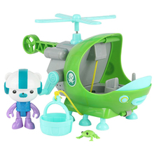 Octonauts Toys Captain Barnacles & the Rescue Helicopter Big Models Baby Children Xmas Gift(China)