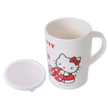 Hello Kitty Ceramic Cups Cute Cartoon KT Milk Mugs With Creative Put Insert Straw Lid Novelty Coffee Water Cup For Xmas Gift