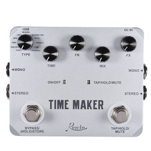 High Quality TIME MAKER Guitar Delay Effect Pedal 11 Type of Effects True Bypass Mono Stereo Input/ Output with USB Cable