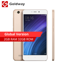 "Global Version! Original Xiaomi Redmi 4A 4 A 2GB RAM 32G ROM Mobile Phone Snapdragon 425 Quad Core 5.0"" 13.0MP 3120mAh Battery(Hong Kong)"