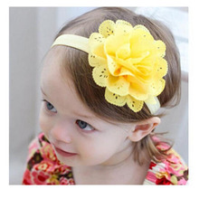 8Pcs Baby Girls Flower Headbands kids hairwear Cloth hollow out hairband children Photography Prop Headband bay care accessories