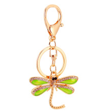 New Dragonfly Pendant Charm Rhinestone Crystal Purse Bag Keyring Key Chain Accessories Wedding Party Gift