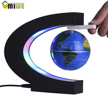 EU US UK AU Plug LED World Map Floating Globe Tellurion Magnetic Levitation Light World Map For Child Baby Gift Home Decoration(China)