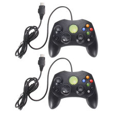 2Pcs/Lot Black Wired Game Controller Professional Gamepad Joystick Game Handle Joypad Game Control for Microsoft XBOX S Type 2