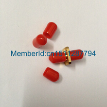 2015 New Arrival Plastic covers Dust cap Red for RF SMA female connector  50PCS #Rocheuk#
