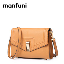 MANFUNI Luxury Bags Handbags Wristlets Day Clutches Italian imports Genuine Leather bags Elegant lady Evening Crossbody Bags(China)