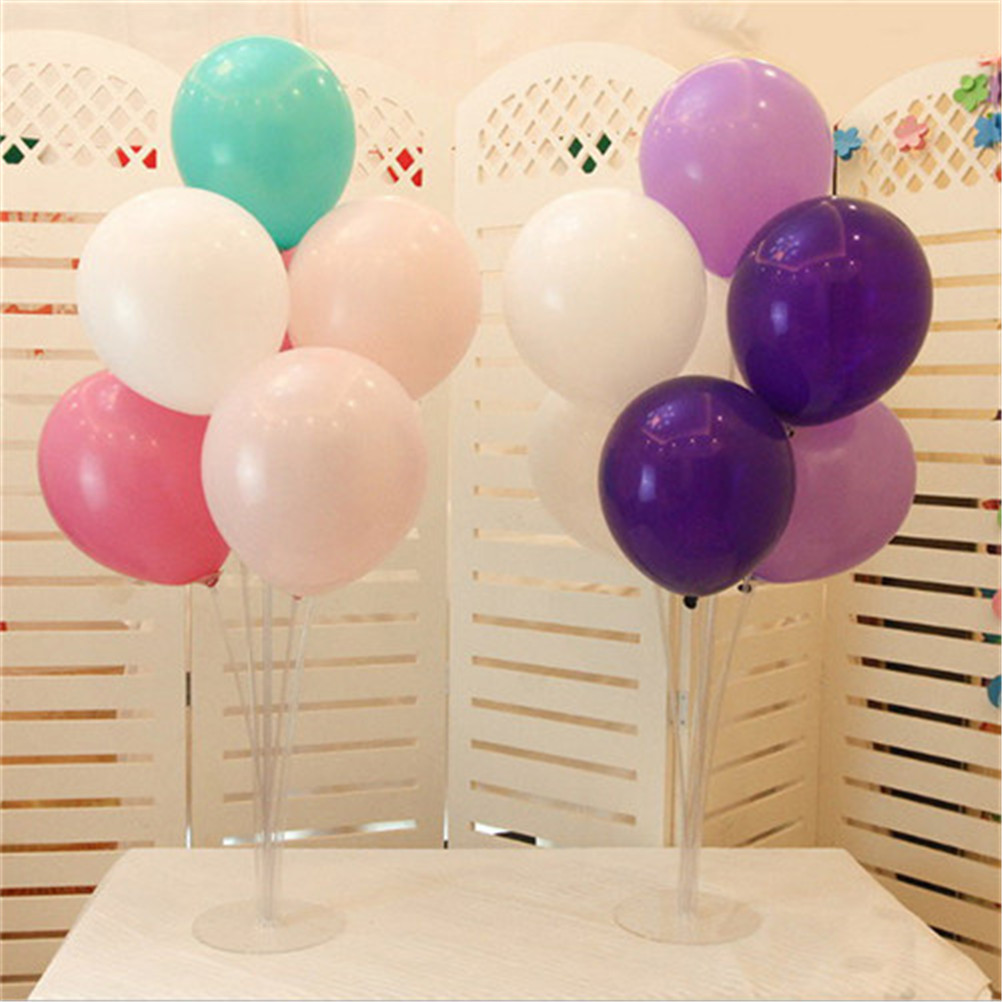 70cm Clear Balloon Column Stand Kits Arch Stand with Frame Base and Pole for Wedding Birthday Party Decoration Supplier
