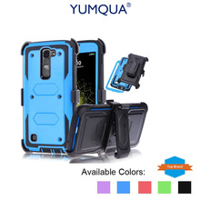 YUMQUA Cover Case For LG Stylo Stylus 2 LS775 Protective Case With Belt Clip Holster Impact Armor for lg stylus 2 Plus Duty Case(China)