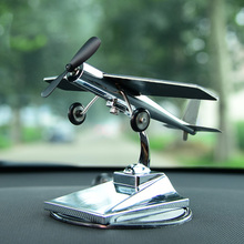 DREAMCAR High Technology Aircraft Model Ornaments Propeller Rotating Solar Power 0.4W For Car Interior Decoration Accessories(China)