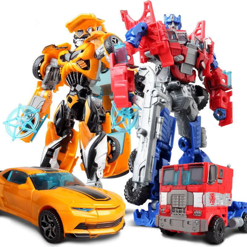 Big Classic Transformation Plastic Robot Cars Action 18.5 cm