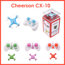 Original Cheerson CX-10 CX10 Mini Drone 2.4G 4CH 6 Axis LED RC Quadcopter Toy Helicoptero(China)