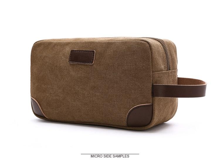 Canvas Travel Bag Toiletry Organizer Shaving Dopp Kit Travel Cosmetic Bag Makeup Men Handbag Casual Zipper Wash Cases Women 6