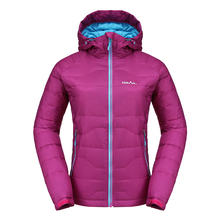 Grail Outdoor Skiing Down Parka Winter Jacket Women Windproof Thermal Hiking Down Jacket Camping Travel Snowboarding Coat 6528A