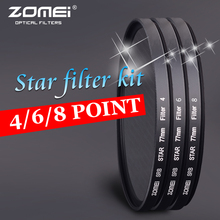 Professional Zomei 62mm  4 6 8 Star Filter Evening Photos Filters High Definition Filtro for Canon 600D Nikon Sony Camera Lens