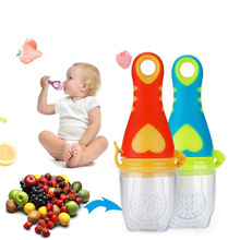New Baby Pacifier Nipple Infant Fresh Food Milk Nibbler Feeder Newborn Feeding Tool Safe Vegetable Chew Supplies Bags Holder(China)