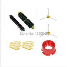 Flexible Beater Bristle Side brush Filter 3/6 armed kit For iRobot Roomba Vacuum 500 Series 510 530 535 540 550 560 570 580(China)