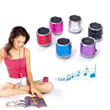 Mini Portable Cylinder Speaker Amplifier FM Music Radio Sound HIFI Support USB Micro Line in for SD TF Card MP3 Player