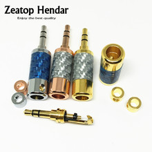1Pcs New Type High Quality 3.5 mm 3 Pole Stereo Male Audio Jack Headphone Plug Welding Repair Headphone AUX DIY Connector(China)