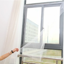 1.6x1.3m Mosquito Net White Curtain Window Screens Protection Mesh with Magic Tape for Fly Bug Insect insektenschutz fenster