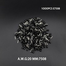 1000pcs E7508 20AWG Copper Crimp Connector Insulated Cord Pin End Terminal Ferrules kit set Wire terminals connector(China)