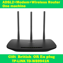 NEW TP-LINK TD-W89941N 450Mbps ADSL modem wifi extender wireless router 802.11n/g/b 3 antenna support IPTV