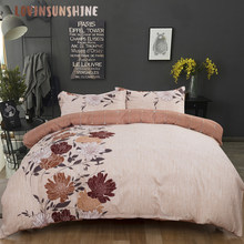 LOVINSUNSHINE Quilt Cover Set Bedding And Bed Sets Simple Flower Design For Adult Duvet Cover Queen AB#120(China)