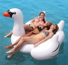 Flamingo White Swan Inflatable swimming mounts on water Floating bed Floating row Unicorn Adult swimming ring(China)